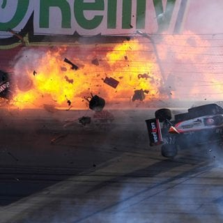 2011 IndyCar Dan Weldon Crash Vegas Killed