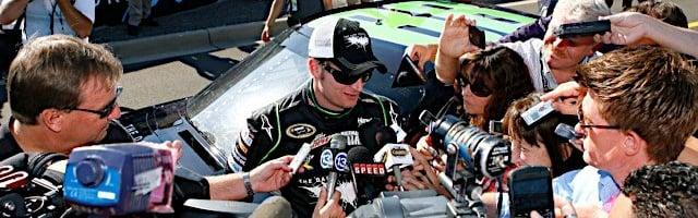 NASCAR CUP: Dale Earnhardt Jr Climbs Into The Batman Tumbler (PHOTOS)