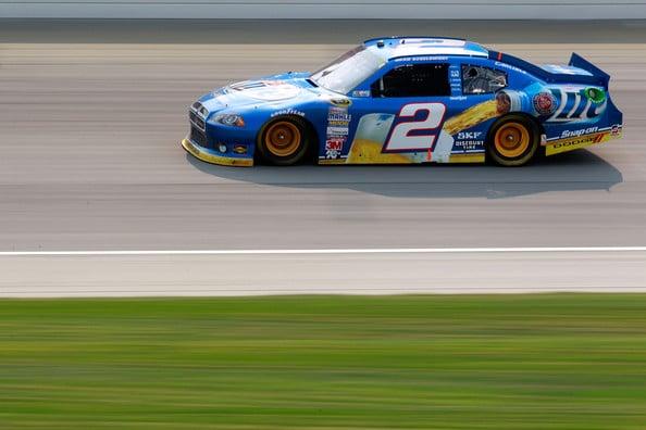 2012 NASCAR Cup Brad Keselowski Chicagoland Chase Win Photos