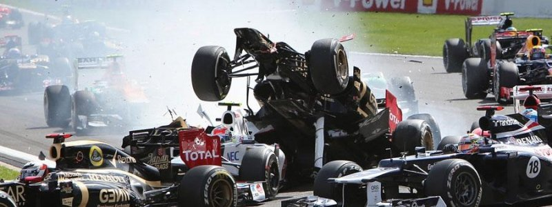 F1: Romain Grosjean Banned After Causing First Turn Crash (VIDEO)