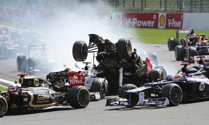 2012 Spa Formula One Crash