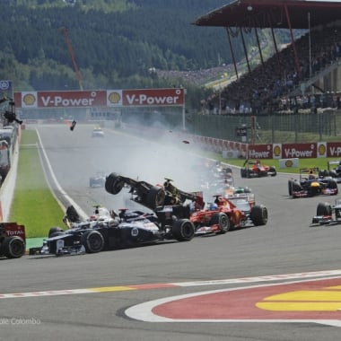 2012 Spa-Francorchamps Formula One Crash Romain Grosjean Alonso Hamilton Perez