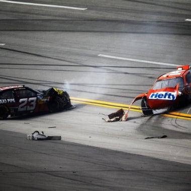 2012 Talladega NASCAR Nationwide Crash - Eric Mclure