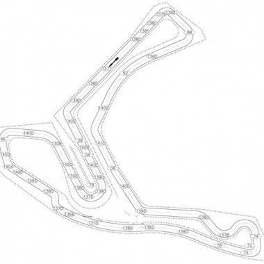 Atlanta Motorsports Park AMP Kart Track Elevation Diagram