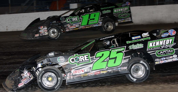 DIRT LATE MODEL: Darrel Lanigan Holds Off Moyer To Win At Dirt Covered Berlin Raceway (PHOTOS)
