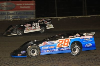 DIRT LATE MODEL: Dennis Erb Tops Moyer At Federated Auto Parts Speedway Pepsi Nationals