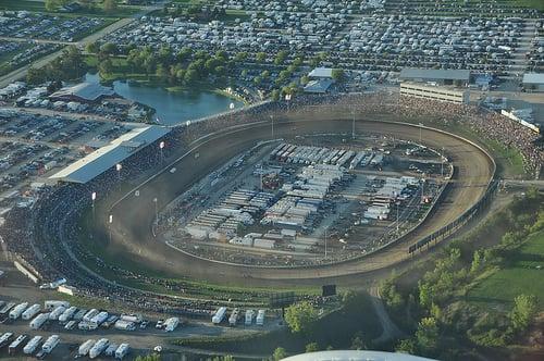 Eldora Speedway World 100 Aerial Photo