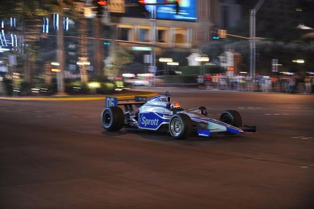 James Hinchcliffe Indy Drive Down Las Vegas Strip