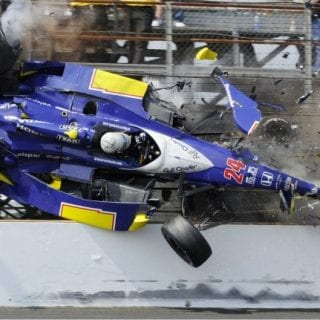 2010 Mike Conway Indy 500 Crash
