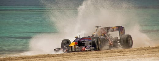F1: Red Bull F1 Car Driving on a Dominican Republic Beach and Red Bull F1 Factory Tour (VIDEOS)