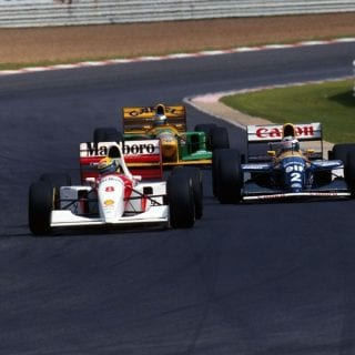 1991 Micahel Schumacher - Ayrton Senna