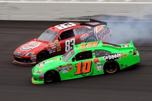 Danica Patrick Attempted Wreck of Landon Cassill (NASCAR)
