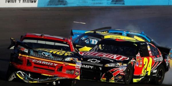 NASCAR CUP: Jeff Gordon Wrecks Clint Bowyer, Causes Garage Brawl (VIDEO)