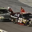 Kevin Harvicks Empty Car Pushed By Kyle Busch At Darlington (NASCAR Cup Series)