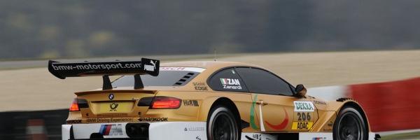 DTM: Alex Zanardi Drives Golden BMW M3 At Nürburgring