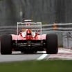 Ferrari Rear Wing Drag Reduction System Activated (Formula One)