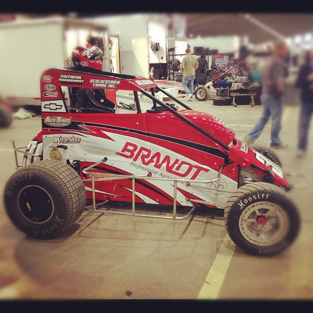 2013 Justin Allgaier Dirt Midget Photo (Chili Bowl Nationals)