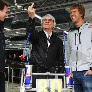 Bernie Ecclestone Flipping The Bird (Formula One)