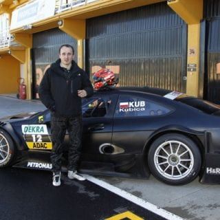 Robert Kubica Testing Mercedes DTM Car At Valencia (Touring Car)