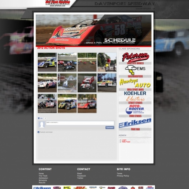 2013 DavenportSpeedway Website (Created by Walters Web Design)