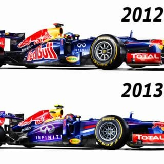 2013 Infinity Red Bull Racing RB9 Chassis vs 2012 (Formula One)