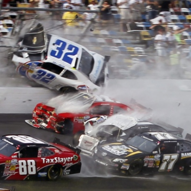 2013 Kyle Larson Crash - Daytona International Speedway (NASCAR Nationwide Series)