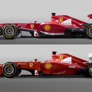 2013 Scuderia Ferrari F138 vs 2012 Car (Formula One)