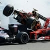 2012 Romain Grosjean - Fernando Alonso - Lewis Hamilton Spa Crash (Formula One)