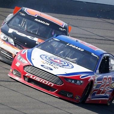 Joey Logano and Denny Hamlin Crash - Auto Club Speedway (NASCAR Cup Series) A