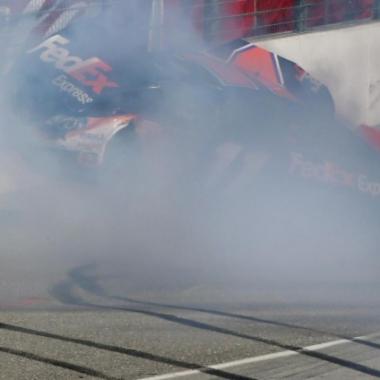 Joey Logano and Denny Hamlin Crash - Auto Club Speedway (NASCAR Cup Series) C