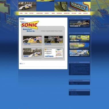 Sonic Drive In - Lance Dehm Racing - Walters Web Design