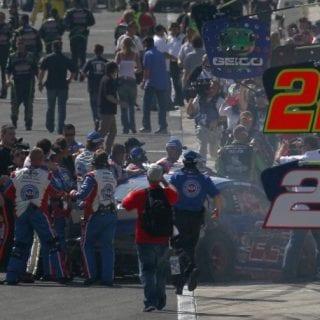 Tony Stewart vs Joey Logno - Auto Club Speedway (NASCAR Cup Series)