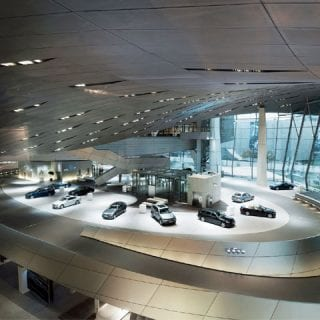 BMW Welt Building - BMW Motorsport M3 Cars (DTM)