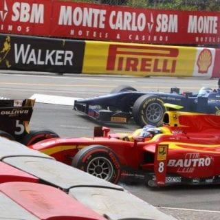 14 Car Monaco GP2 Crash