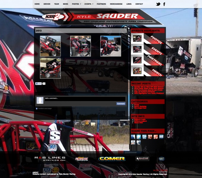 Kyle Sauder Racing (WEBSITE) Limaland Motorsports Park