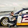 Brad Keselowski Drives Across Mackinac Bridge Photo (NASCAR)