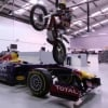 Dougie Lampkin Tours Red Bull Racing