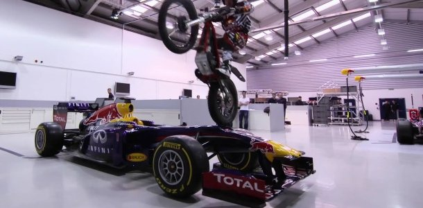 F1 Dougie Lampkin Tours Red Bull Racing Video Racing News
