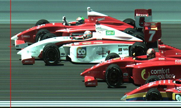 Peter Dempsey - 4 Wide Finish At Indianapolis Motor Speedway (Indy Lights)