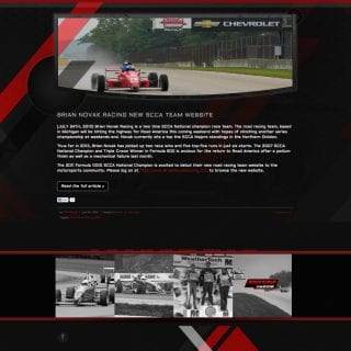 Brian Novak Racing SCCA Driver Website - Created by Walters Web Design