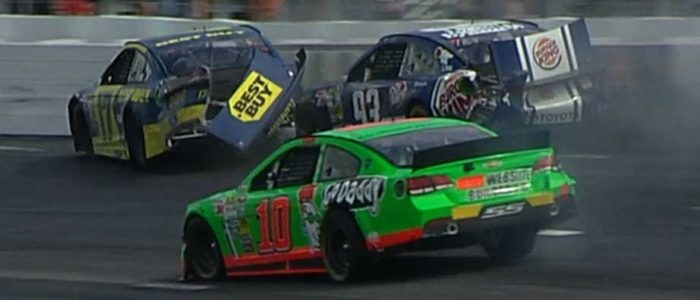 NASCAR CUP: Couples Danica Patrick and Ricky Stenhouse Crash, Danica Sleeps On The Couch