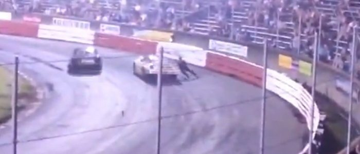ASPHALT SPORTSMAN: Driver Gets Dragged By Car At Bowman Gray Stadium (VIDEO)
