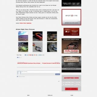 Racing News Network - Created by Walters Web Design