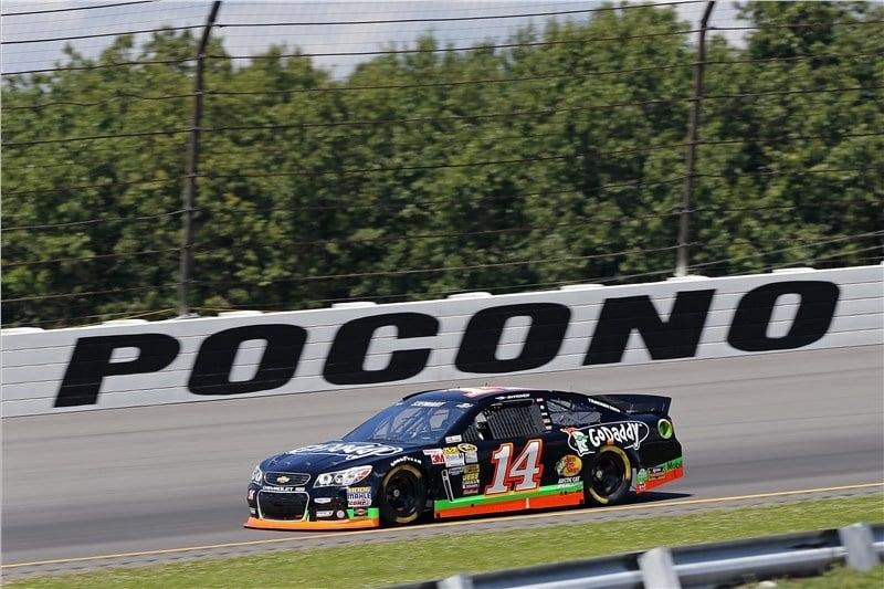 Tony Stewart Broken Leg - Pocono Raceway ( NASCAR CUP SERIES)
