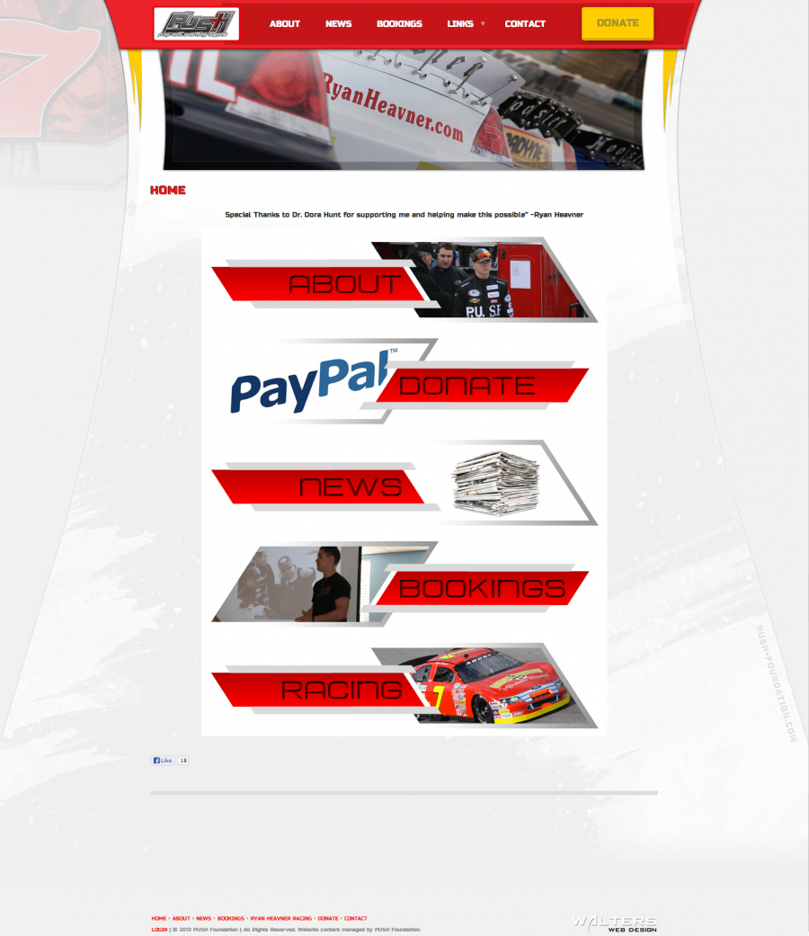 2013 PUSH Racing Foundation - Created by Walters Web Design
