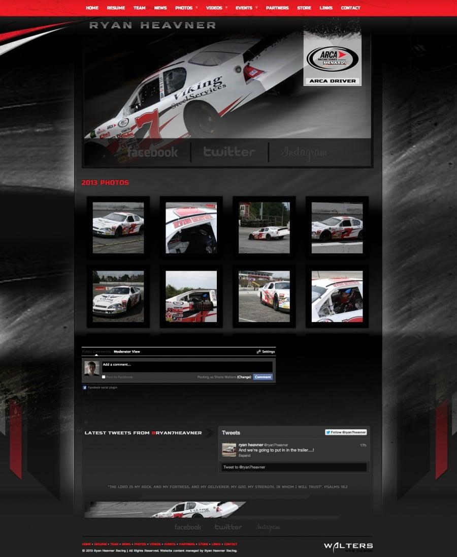 2013 Ryan Heavner - Created by Walters Web Design