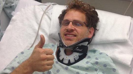 DIRT LATE MODEL: Josh McGuire Crash