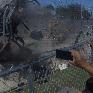 Dario Franchitti Crash Causes Driver Retirement ( INDYCAR )