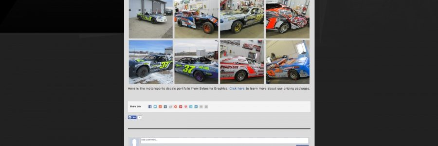 INDUSTRY: Sybesma Racing Graphics Launches New Website