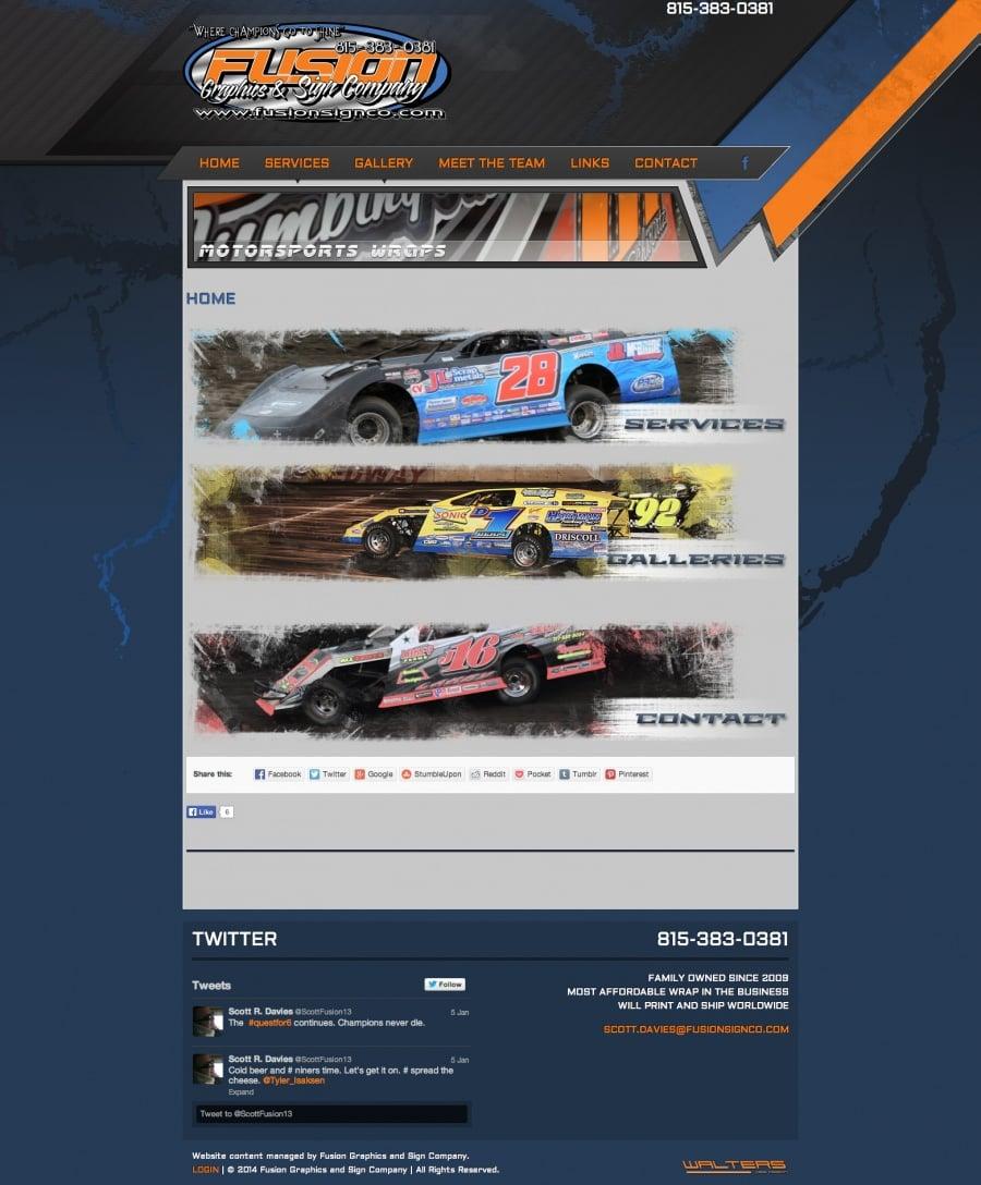 Fusion Motorsports Graphics - Walters Web Design